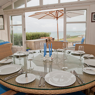 Dine in the summerhouse